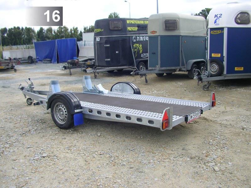 (16) Do przewozu quadów  Wymiary: 300 x 143 cm Ładowność: 780kg (DMC: 1100kg) cena /doba : 65zł do 4godz.45zł